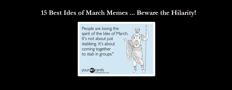 Ides of March Banner